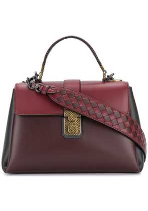 Bottega Veneta dark barolo nappa small piazza bag - Red