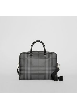 Burberry London Check and Leather Briefcase, Grey