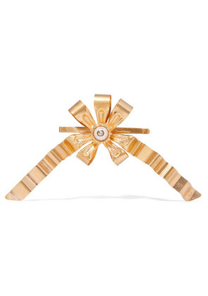 Gucci - Gold-plated Faux Pearl Hair Slide - Brass