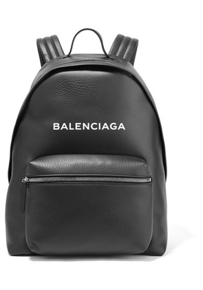 Balenciaga - Everyday Printed Textured-leather Backpack - Black