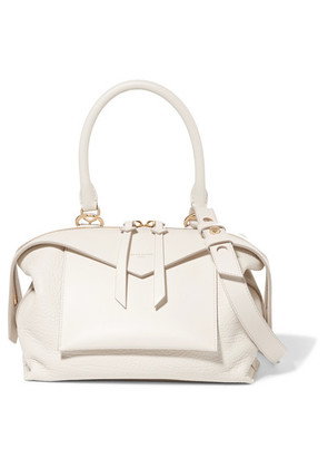 Givenchy - Sway Small Smooth And Textured-leather Shoulder Bag - Off-white
