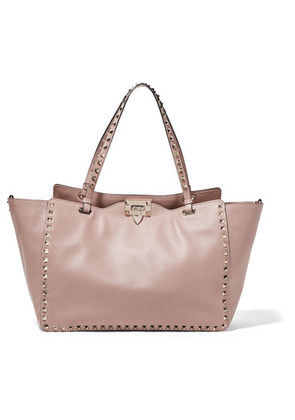 Valentino - The Rockstud Leather Tote - Blush