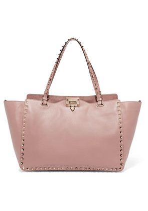 Valentino - The Rockstud Leather Tote - Pink