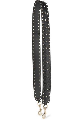 Valentino - Valentino Garavani The Rockstud Spike Matelassé Quilted Leather Bag Strap - Black