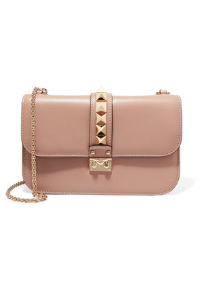 Valentino - Lock Medium Leather Shoulder Bag - Blush