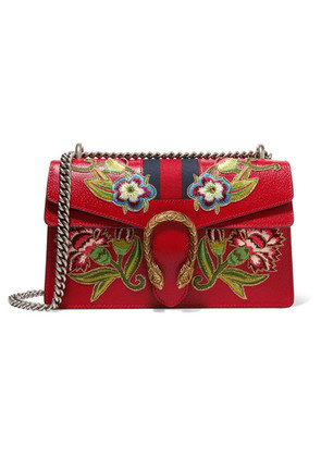 Gucci - Dionysus Small Appliquéd Textured-leather Shoulder Bag - one size