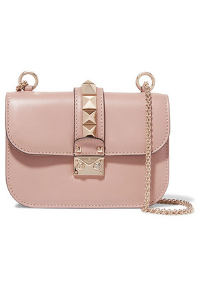 Valentino - Lock Small Leather Shoulder Bag - Blush