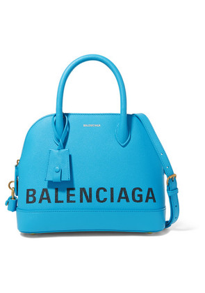 Balenciaga - Ville Small Printed Textured-leather Tote - Blue