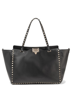 Valentino - The Rockstud Leather Trapeze Bag - Black