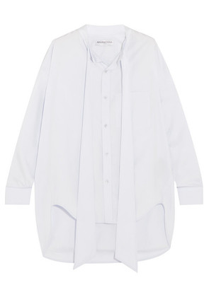 Balenciaga - Swing Printed Cotton-poplin Shirt - Sky blue
