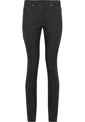 Saint Laurent - High-rise Skinny Jeans - Black