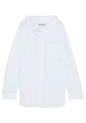 Balenciaga - Oversized Striped Cotton-jacquard Shirt - White