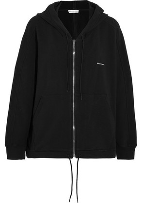 Balenciaga - Cocoon Oversized Stretch-cotton Hoodie - Black