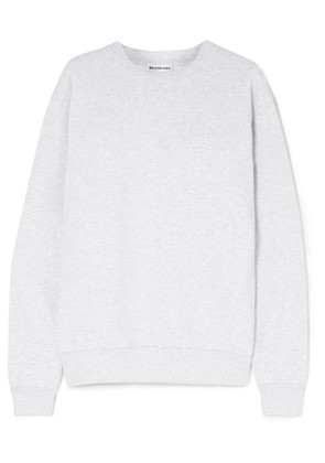 Balenciaga - Embroidered Cotton-blend Jersey Sweatshirt - Gray