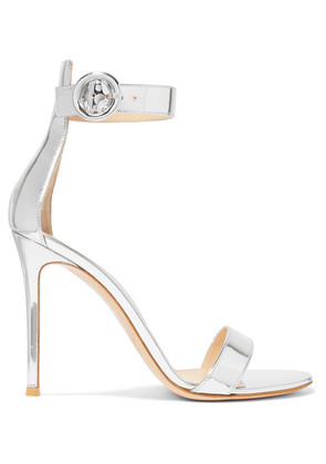 Gianvito Rossi - Portofino 105 Metallic Leather Sandals - Silver