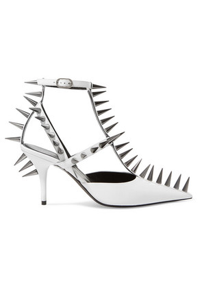 Balenciaga - Knife Spiked Leather Pumps - White