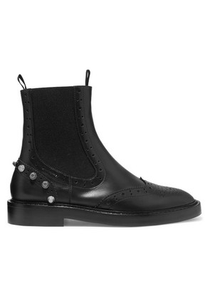 Balenciaga - Studded Leather Ankle Boots - Black