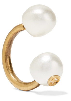 Gucci - Gold-plated Faux Pearl Earring - one size