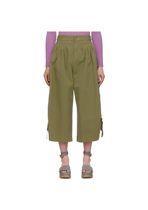 See by Chloé Khaki Cargo Culottes