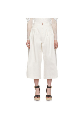 See by Chloé White Cargo Culottes