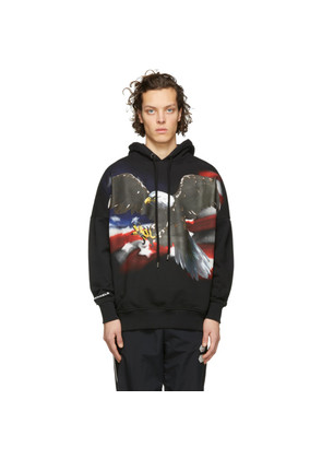 Palm Angels Black Eagle Over Hoodie
