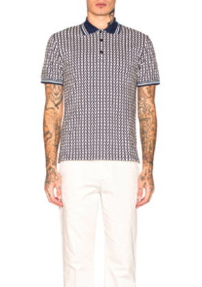 Valentino V Print Polo in Abstract,Blue,White