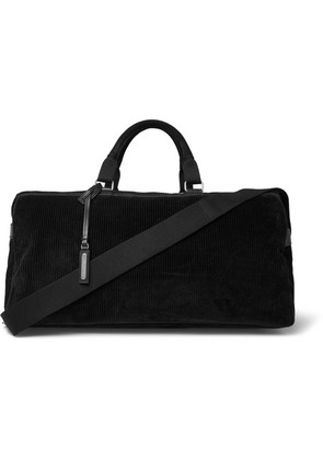 Saint Laurent - Suede And Leather-trimmed Corduroy Holdall - Black