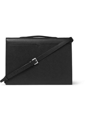 Valextra - Pebble-grain Leather Briefcase - Black