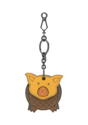 Bottega Veneta pig keyring - Brown