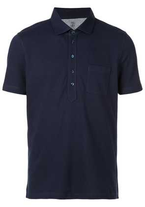 Brunello Cucinelli front pocket polo shirt - Blue