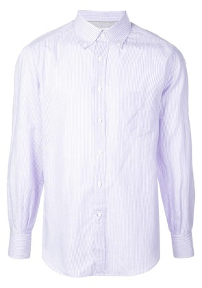 Brunello Cucinelli micro-stripe shirt - Purple