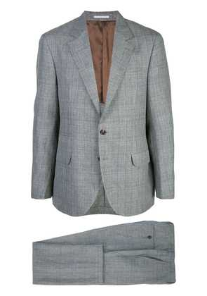 Brunello Cucinelli micro-check suit - Green
