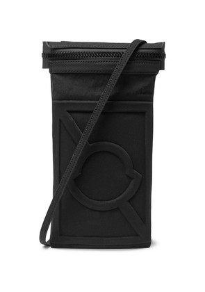 Moncler Genius - 5 Moncler Craig Green Leather-trimmed Canvas Messenger Bag - Black