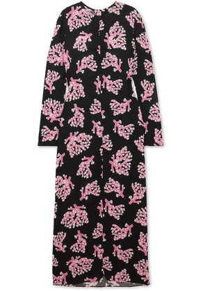 Marni - Printed Crepe Maxi Dress - Black
