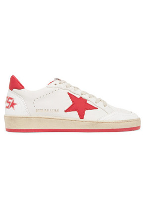 Golden Goose Deluxe Brand - Ball Star Distressed Leather Sneakers - White