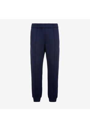 Bally 1851 Cotton Tracksuit Trousers Blue, Men's cotton fleece trousers in navy