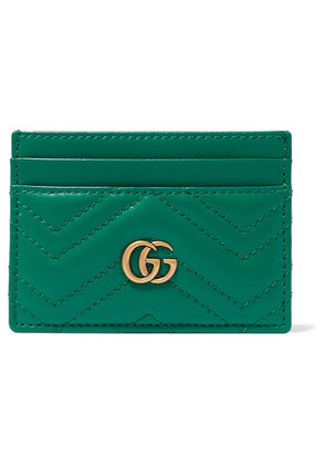 Gucci - Gg Marmont Quilted Leather Cardholder - Green