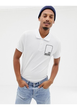 Love Moschino box logo polo shirt - White