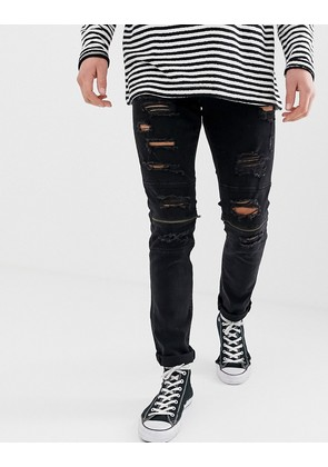 Jack & Jones Intelligence GLENN slim rip & repair jeans