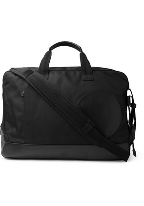 Dunhill - Radial Leather-trimmed Canvas Holdall - Black