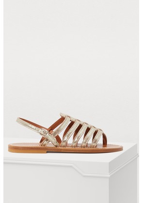 Homere lamé leather sandals