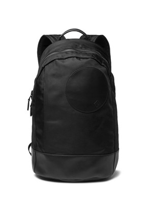 Dunhill - Radial Leather-trimmed Shell Backpack - Black