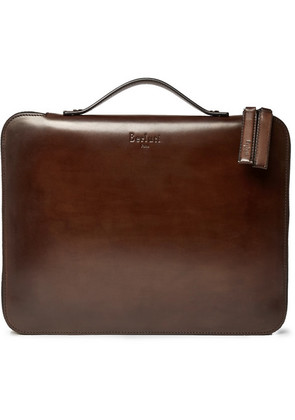 Berluti - Nino Leather Briefcase - Brown