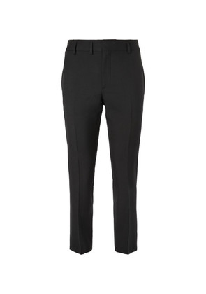 Saint Laurent - Slim-fit Virgin Wool-gabardine Trousers - Black