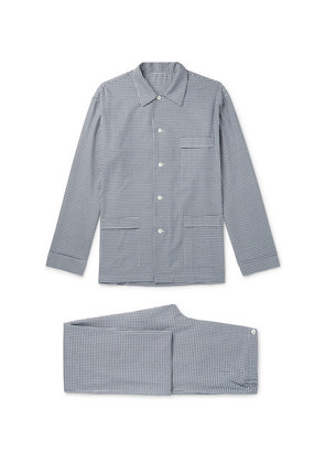 Anderson & Sheppard - Gingham Brushed Cotton-twill Pyjama Set - Navy
