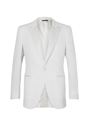 TOM FORD - Cream O'connor Slim-fit Faille-trimmed Wool And Mohair-blend Tuxedo Jacket - Cream