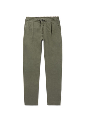 NN07 - Domenico Tapered Twill Drawstring Trousers - Army green