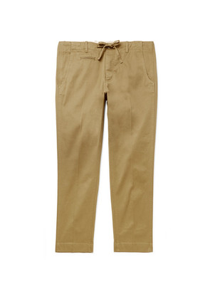 MAN 1924 - Slim-fit Tapered Stretch-cotton Twill Trousers - Beige