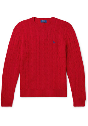 Polo Ralph Lauren - Cable-knit Merino Wool And Cashmere-blend Sweater - Red