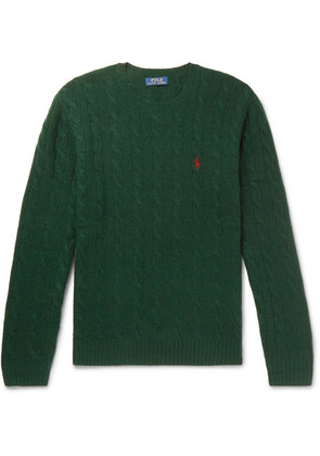 Polo Ralph Lauren - Cable-knit Merino Wool And Cashmere-blend Sweater - Green